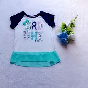 Other - 💖Girls top with blue sheer trim💖